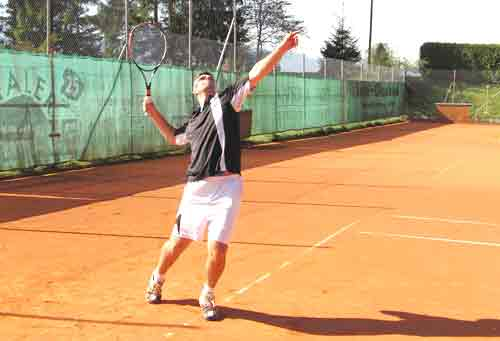 Aufschlagtaktik beim Tennis