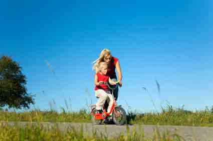 Wie lernen Kinder am besten Fahrradfahren?
