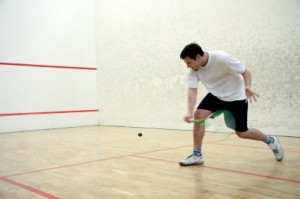 Schlagtechnik beim Squash