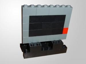 Ein einfacher Flachbildschrim-Fernseher aus Lego